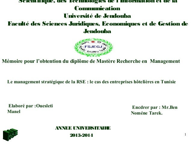 Scientifique, des Technologies de l'Information et de la Communication Université de Jendouba Faculté des Sciences Juridiq...