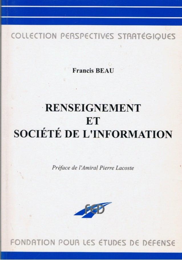 Renseignement et société de l'information, La Documentation Française, 1997