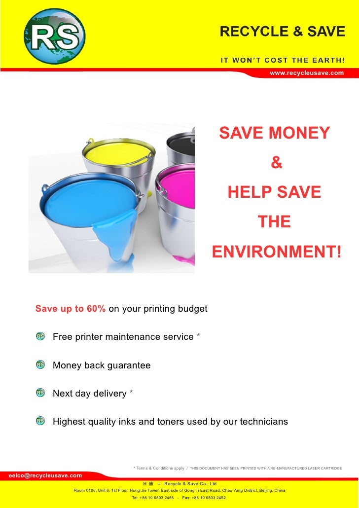 www.recycleusave.com                                                                                                    SA...