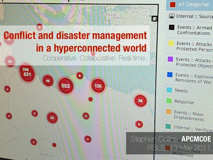 Conflict and disaster management in a hyperconnected world - Cooperative. Collaborative. Real-time.