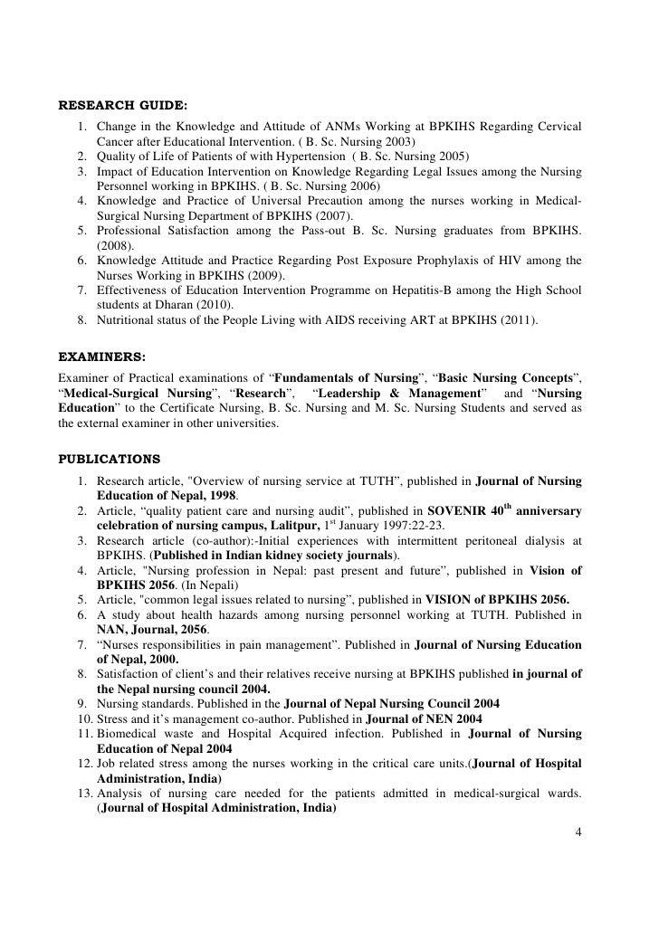 Gnm nurse resume format