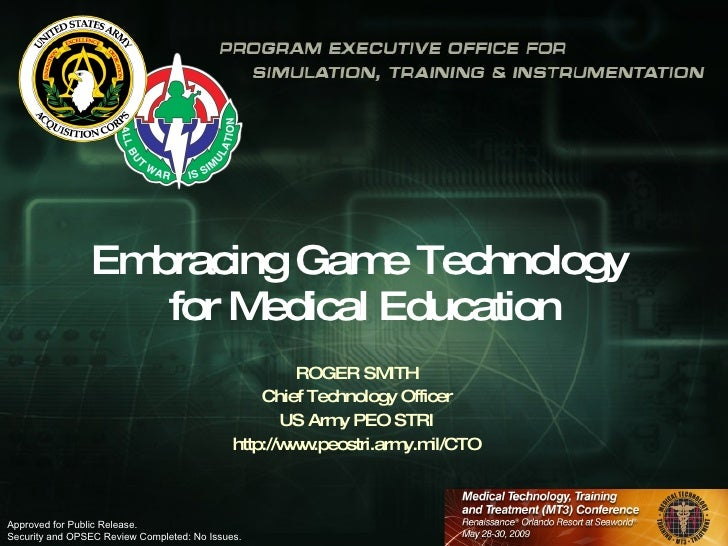 Embracing Game Technology for Medical Education