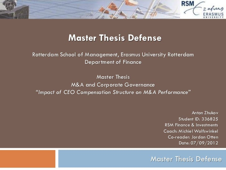 Master thesis in energy management