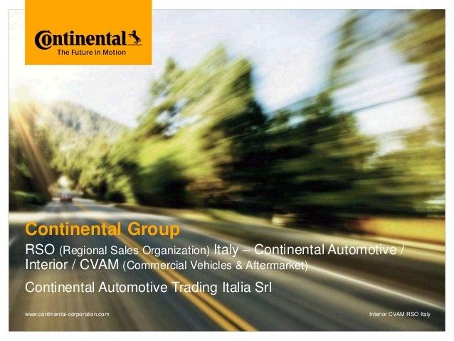 Continental Automotive Trading Italia - Chi siamo: il Gruppo Continental e la sede italiana