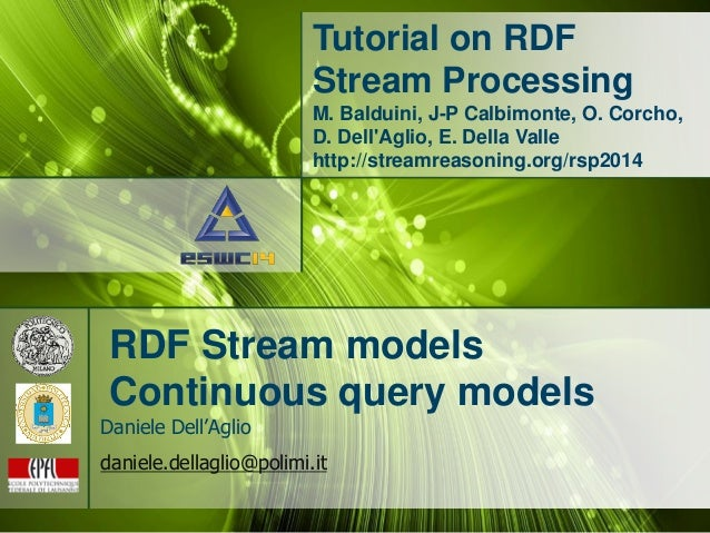 RDF Stream Processing Models (RSP2014)