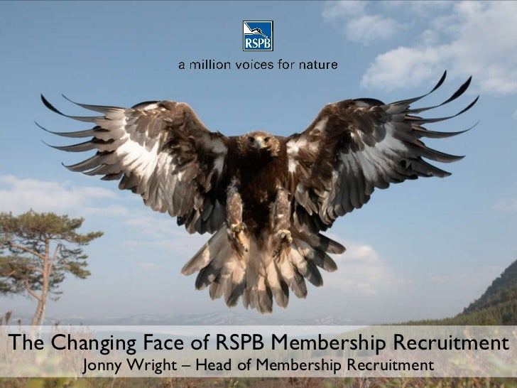The Changing Face of RSPB Membership Recruitment Jonny Wright – Head of Membership Recruitment
