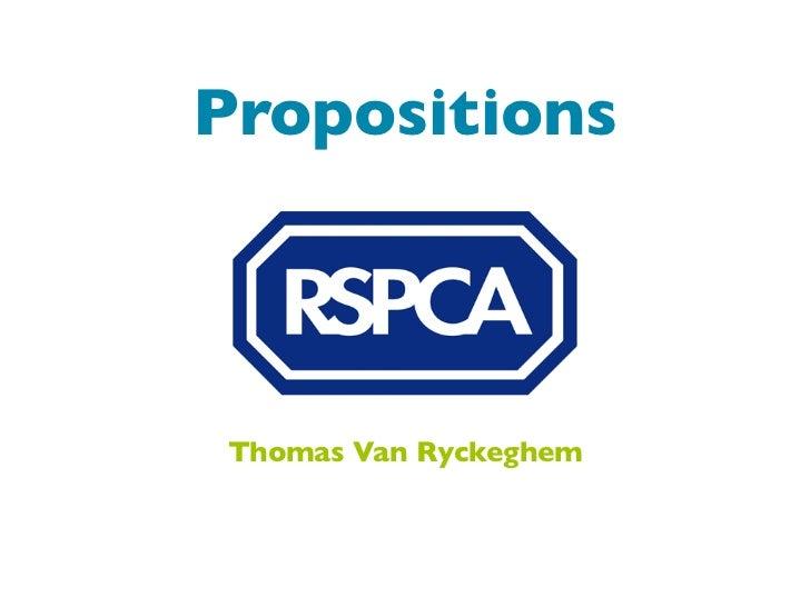 PropositionsThomas Van Ryckeghem