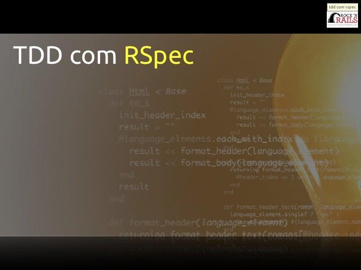 tdd com rspecTDD com RSpec