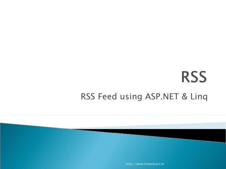 Creating an RSS feed