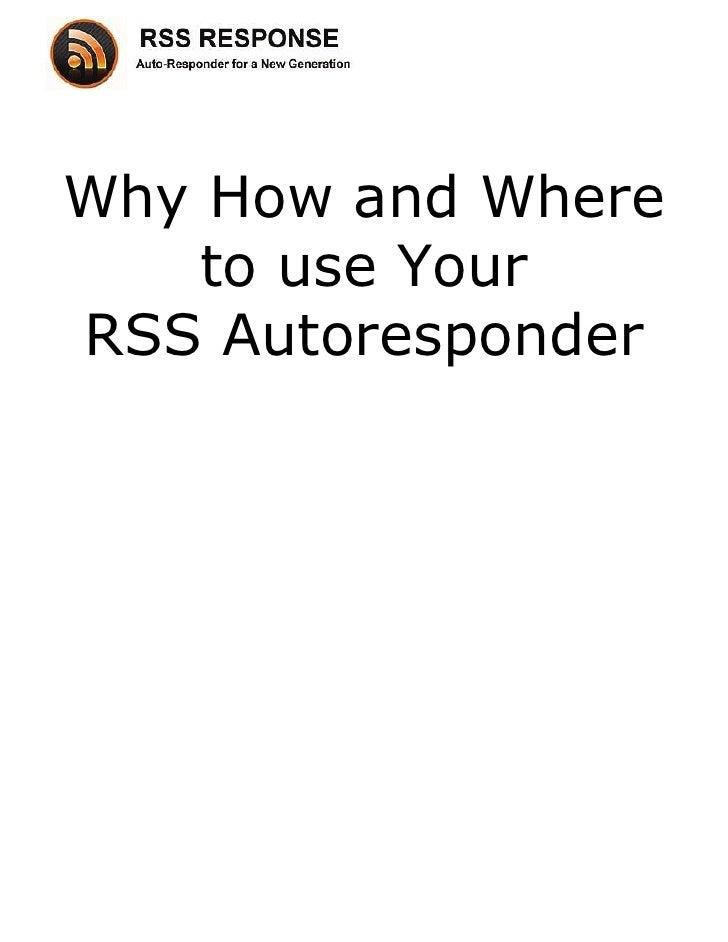 RSS Autoresponder