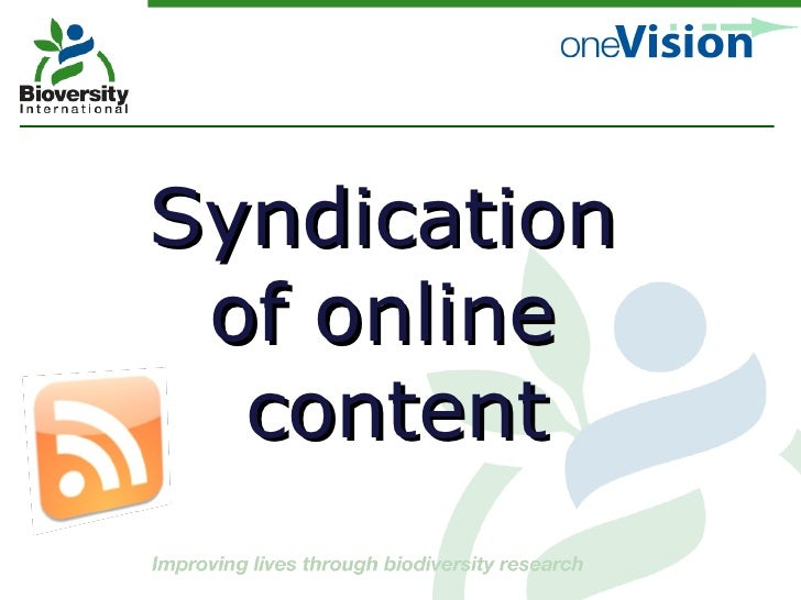 Syndication  of online  content