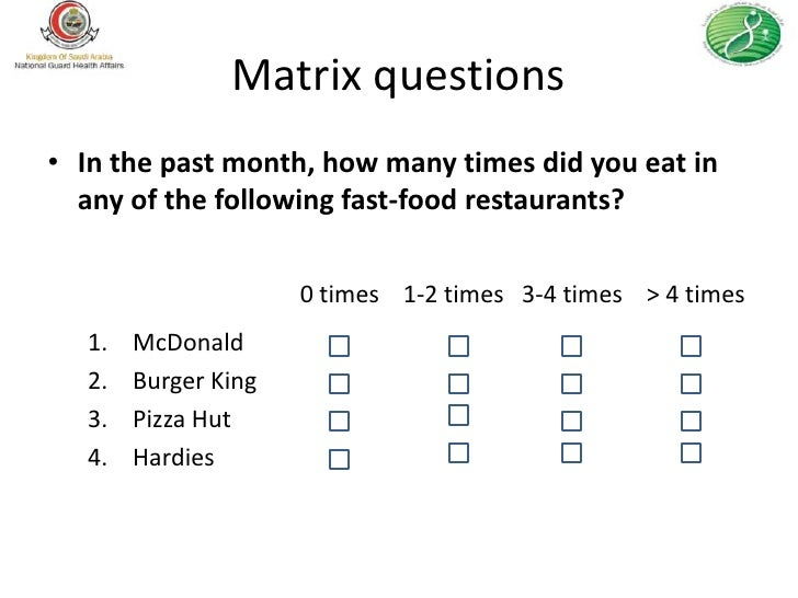 RSS 2012 How to Write a Health Survey