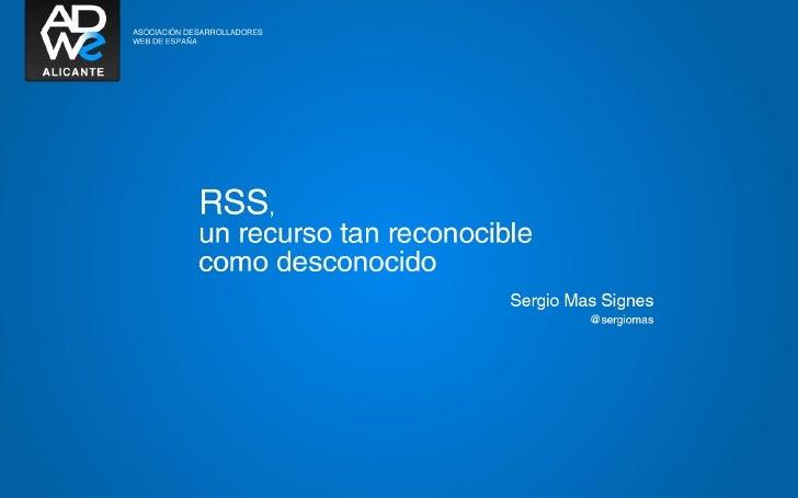 Significado y usos de RSS