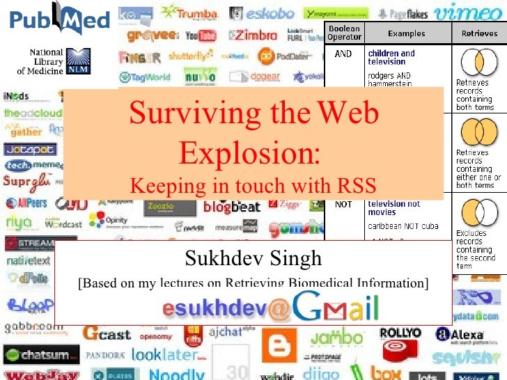 Surviving the Web Explosion: Keeping in touch with RSS