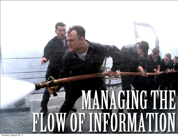 MANAGING THETuesday, August 30, 11                         FLOW OF INFORMATION