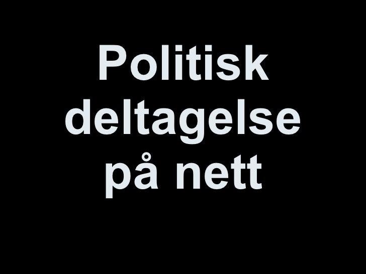 Politisk deltagelse på nett - for Årstad VGS