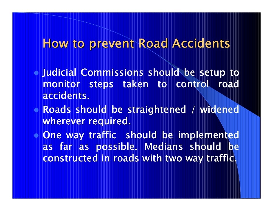 an essay on how to prevent road accidents