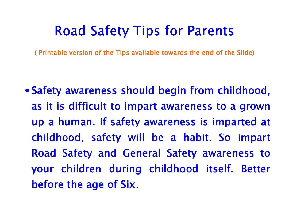road safety 4 essay