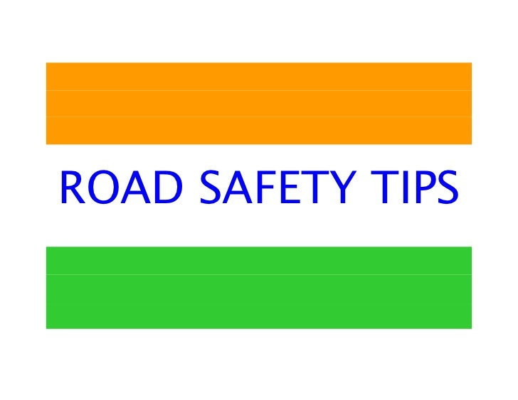essays on road safety in india