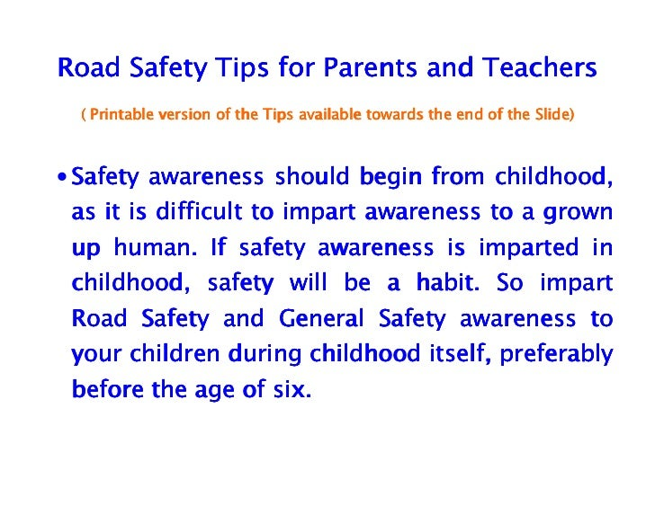 short essay road safety India's hurried quest for development and its disregard for road safety have  resulted in a major public health problem that demands serious.