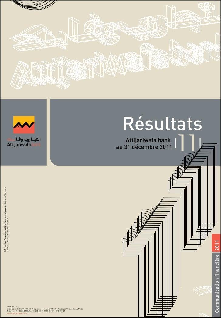 Résultats annuels attijari wafabank 2011