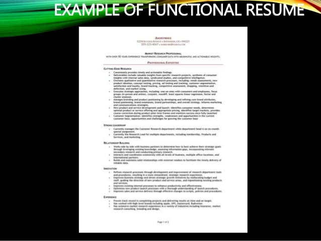 Example of a resume paper