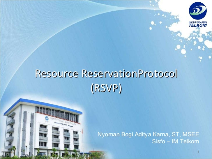 Resource Reservation Protocol
