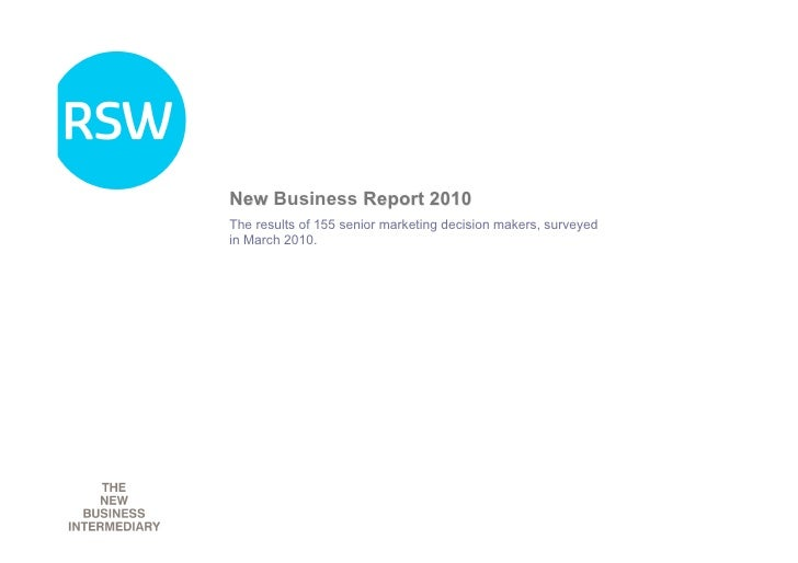 Rsw New Business Report 2010
