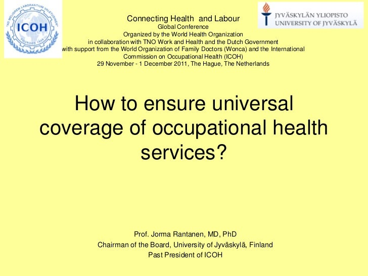 Rt 1 How to ensure universal coverage of occupational health services