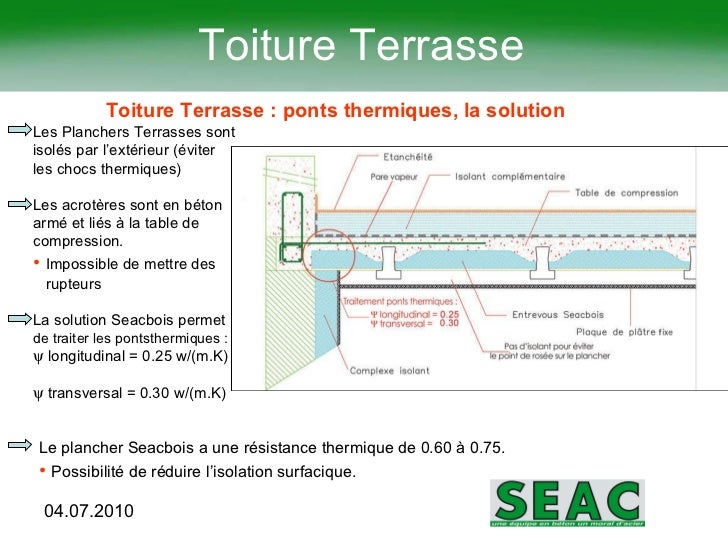 Rt2012 solutions sea cjuillet2011 for Isolant pour toiture terrasse