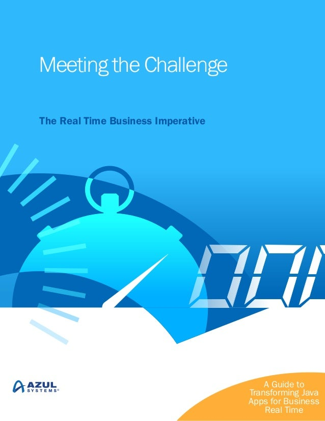 Meeting the Challenge The Real Time Business Imperative  A Guide to Transforming Java Apps for Business Real Time