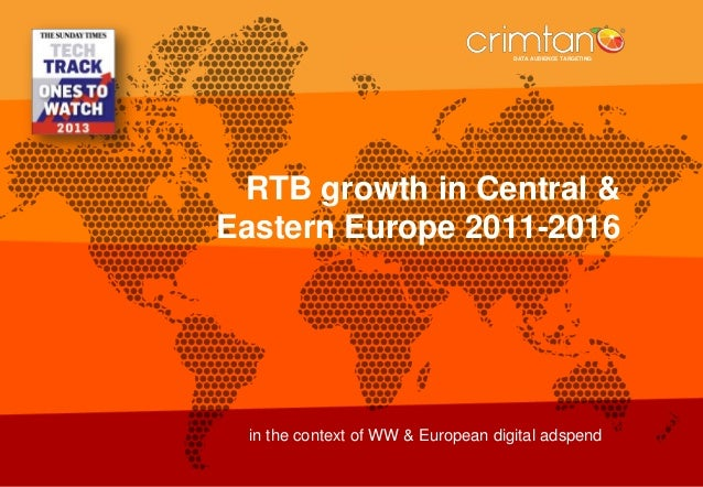 DATA AUDIENCE TARGETING  DATA AUDIENCE TARGETING  RTB growth in Central & Eastern Europe 2011-2016  in the context of WW &...