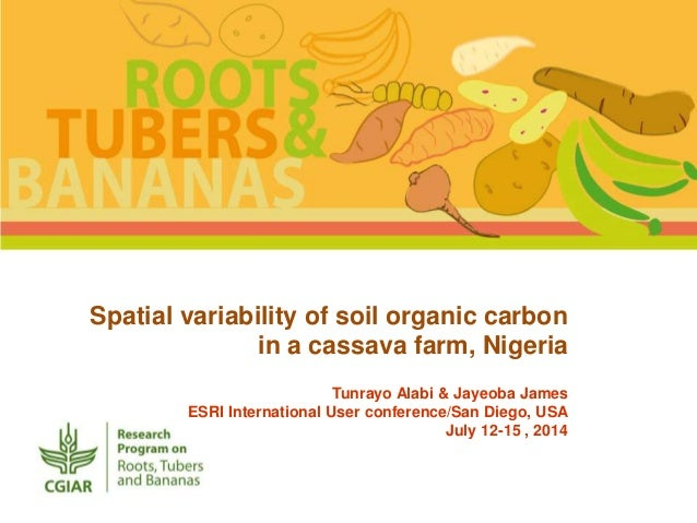 Spatial variability of soil organic carbon in a cassava for Soil organic carbon