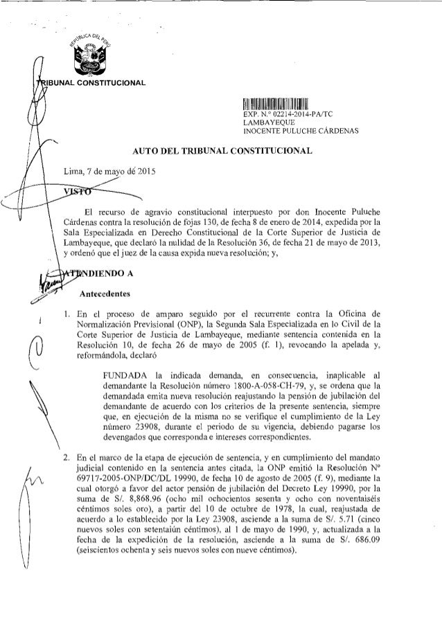 )CA De BUNAL CONSTITUCIONAL 611 11lIfdIlAIIICi1l111111IGl11lI EXP N ° 02214 2014-PA/TC LAMBAYEQUE INOCENTE PULUCHE CÁRDENA...