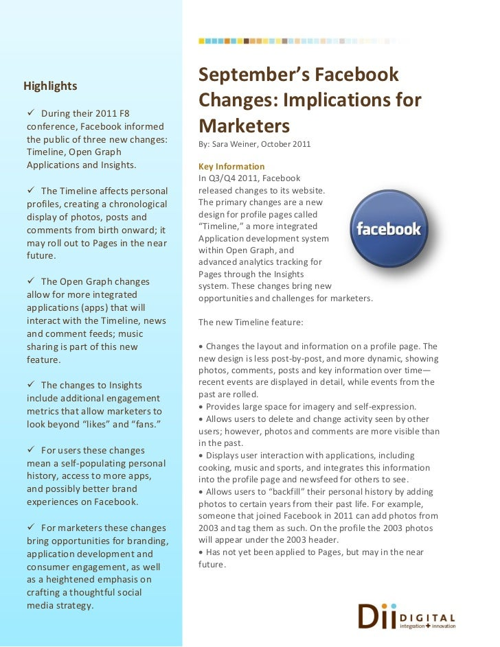 Highlights                                     September's Facebook During their 2011 F8                                 ...