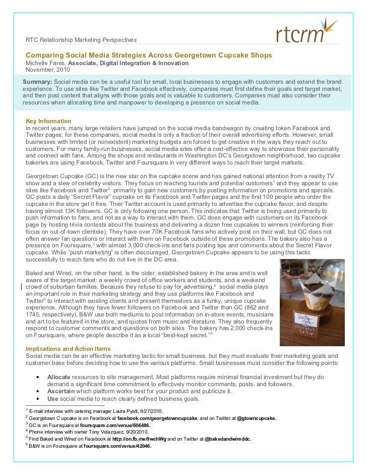 Georgetown Cupcake Shops: Social Media Strategies (November 2010)