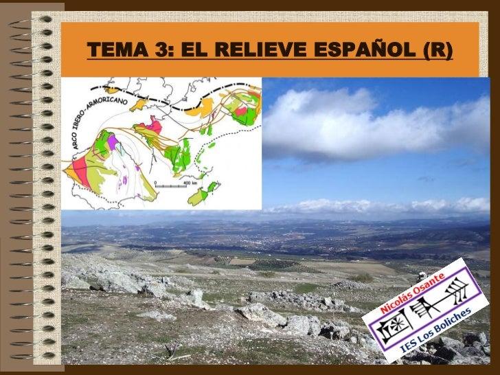 R Tema 3:  El relieve español