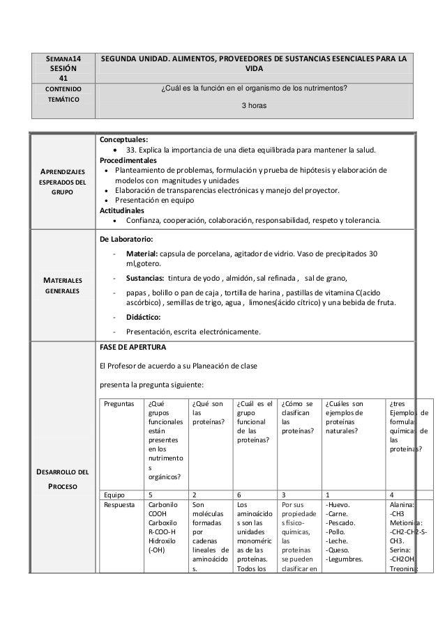 SEMANA14 SESIÓN 41 SEGUNDA UNIDAD. ALIMENTOS, PROVEEDORES DE SUSTANCIAS ESENCIALES PARA LA VIDA CONTENIDO TEMÁTICO ¿Cuál e...