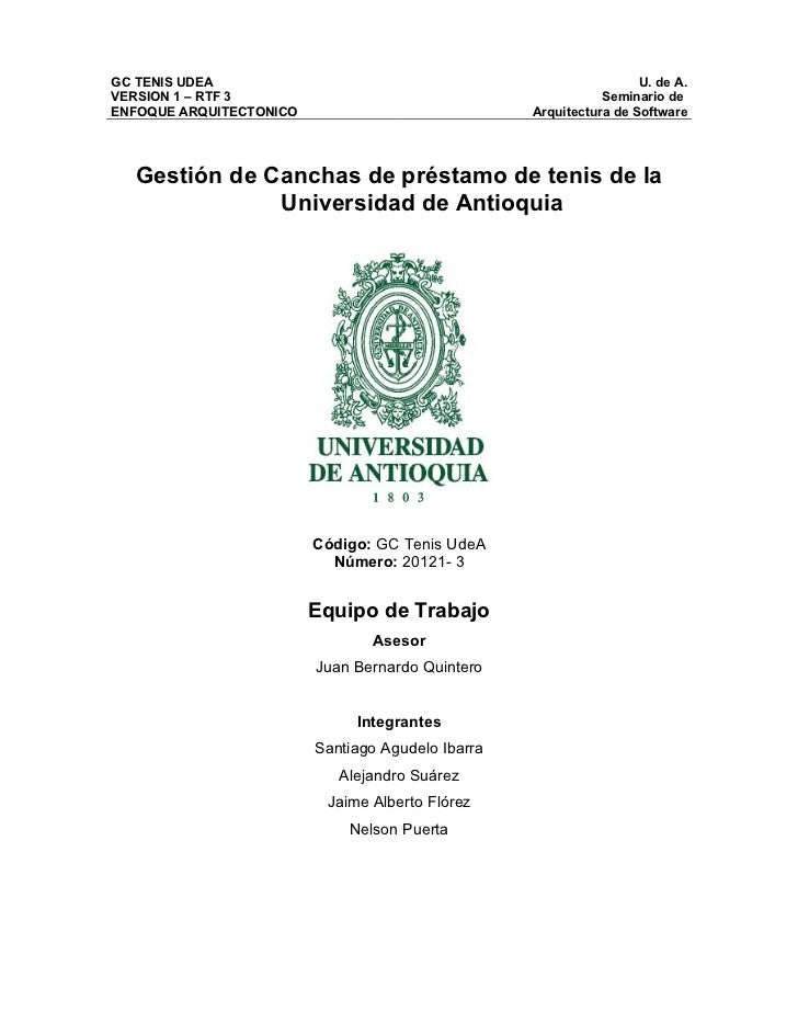 GC TENIS UDEA                                                       U. de A.VERSION 1 – RTF 3                             ...