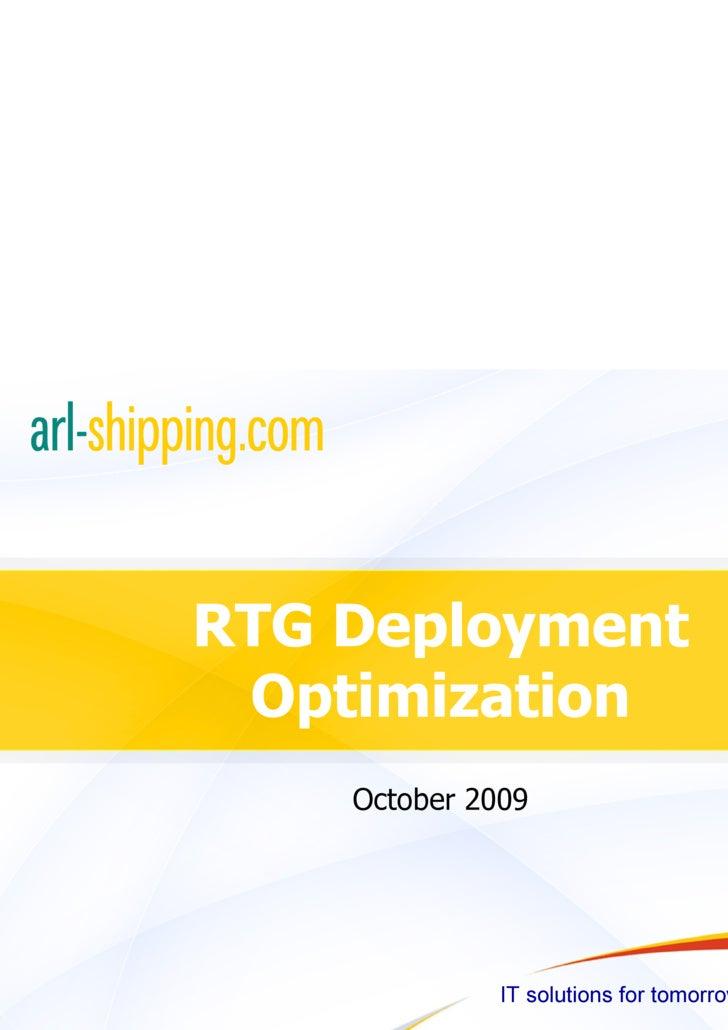 RTG Deployment Optimization
