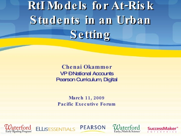 RtI Models for At-Risk Students in an Urban Setting