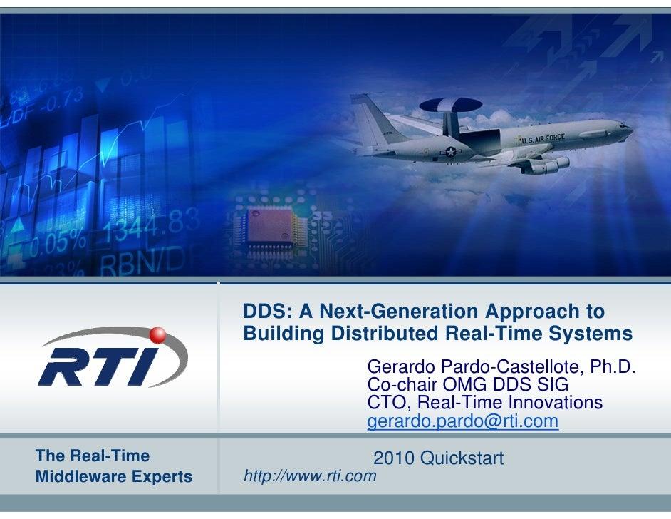 RTI Data-Distribution Service (DDS) Master Class - 2010