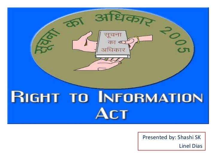essay on right to information act 2005 Find right to information act latest news, videos & pictures on right to information act and see latest updates, news, information from ndtvcom explore more on right to information act.