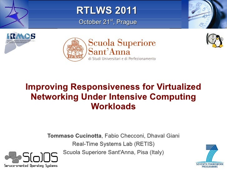 RTLWS 2011               October 21st, PragueImproving Responsiveness for Virtualized Networking Under Intensive Computing...
