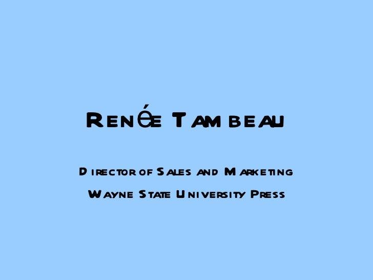 AAUP 2007: Marketing Plan (R. Tambeau)