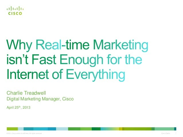 Why Real-time Marketing isn't Fast Enough for the Internet of Everything #IoE