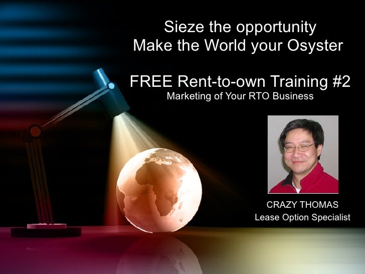 Crazy Thomas Rent-To-Own training video #2 - Marketing Your RTO Business