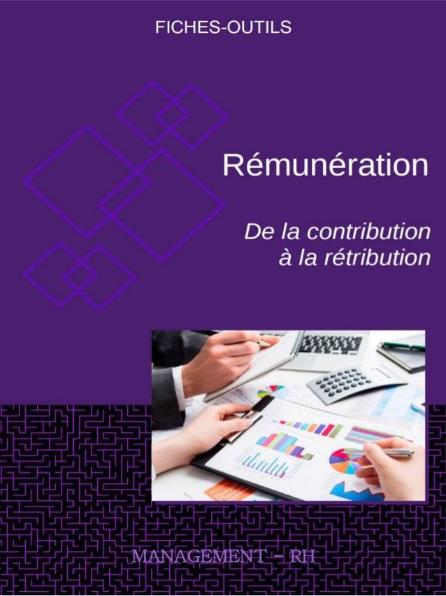 Fiche-Outil RÉTRIBUTION Approfondir Management stratégique des RH Manager RH des Concepts pour Agir Vade Mecum GRH Nouvell...