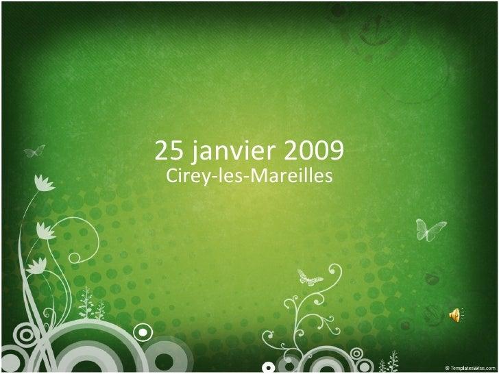 25 janvier 2009 Cirey-les-Mareilles