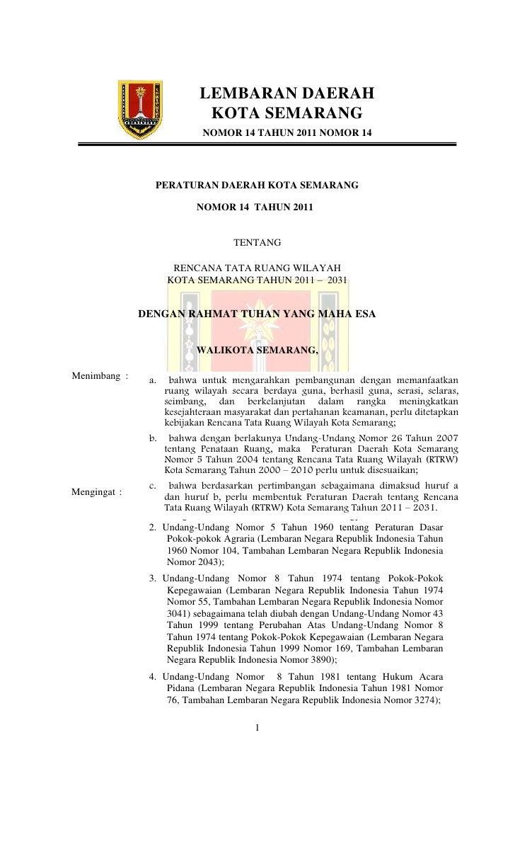 Rtrw kota semarang 2011 2031